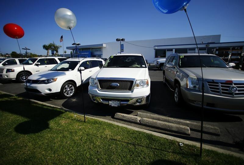 Vehicles are shown for sale at a local dealership in San Diego