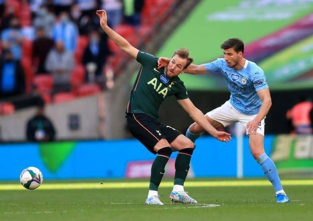 Harry Kane in action at Wembley