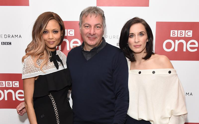 Thandie Newton with Jed Mercurio and Vicky McClure at the launch of Line Of Duty - Credit: Stuart C. Wilson/Getty