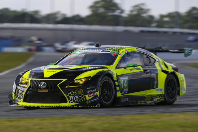 The No. 14 Lexus RC-F GT3 during testing (courtesy of IMSA).