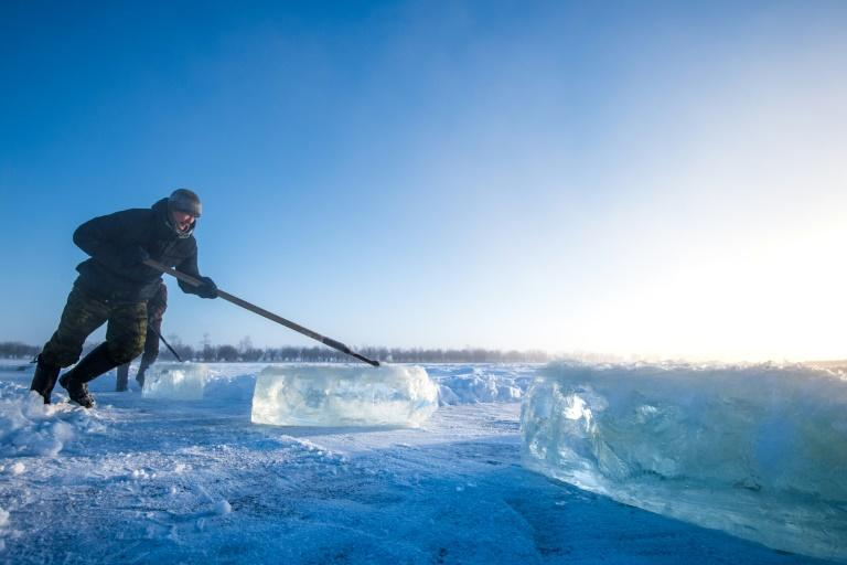 People in Yakutia, in northeastern Siberia, rely on frozen drinking water for much of the year