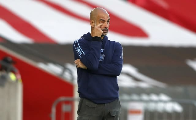 Pep Guardiola's Manchester City lost 1-0 at Southampton (Frank Augstein/NMC Pool/PA).