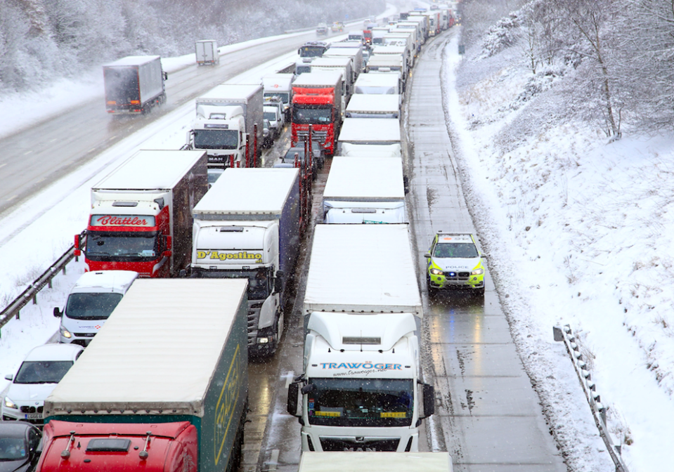 <em>Drivers can expect traffic jams and treacherous conditions on the roads throughout the day (PA)</em>