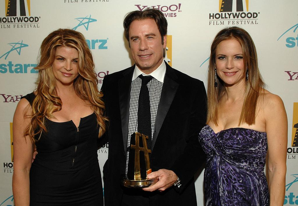 "<a href=""http://movies.yahoo.com/movie/contributor/1800018894"">Kirstie Alley</a>, <a href=""http://movies.yahoo.com/movie/contributor/1800019533"">John Travolta</a> and <a href=""http://movies.yahoo.com/movie/contributor/1800016652"">Kelly Preston</a> at the Hollywood Film Festival's Hollywood Awards in Beverly Hills - 10/22/2007"