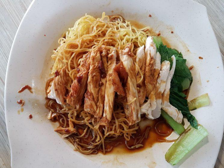 Chicken noodles ($3) from the Golden Dragon Roasted Delight stall in Broadway Canteen, located about 500m away from the Gul Circle MRT station which is opening on 18 June 2017. (Photo: Audrey Kang/Yahoo Lifestyle Singapore)