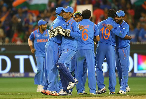 India v Bangladesh: Quarter Final - 2015 ICC Cricket World Cup : News Photo