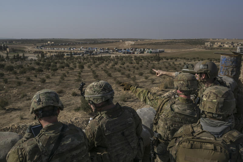 American Special Forces troops outside the northern Syrian city of Manbij, Feb. 7, 2018. (Mauricio Lima/The New York Times)