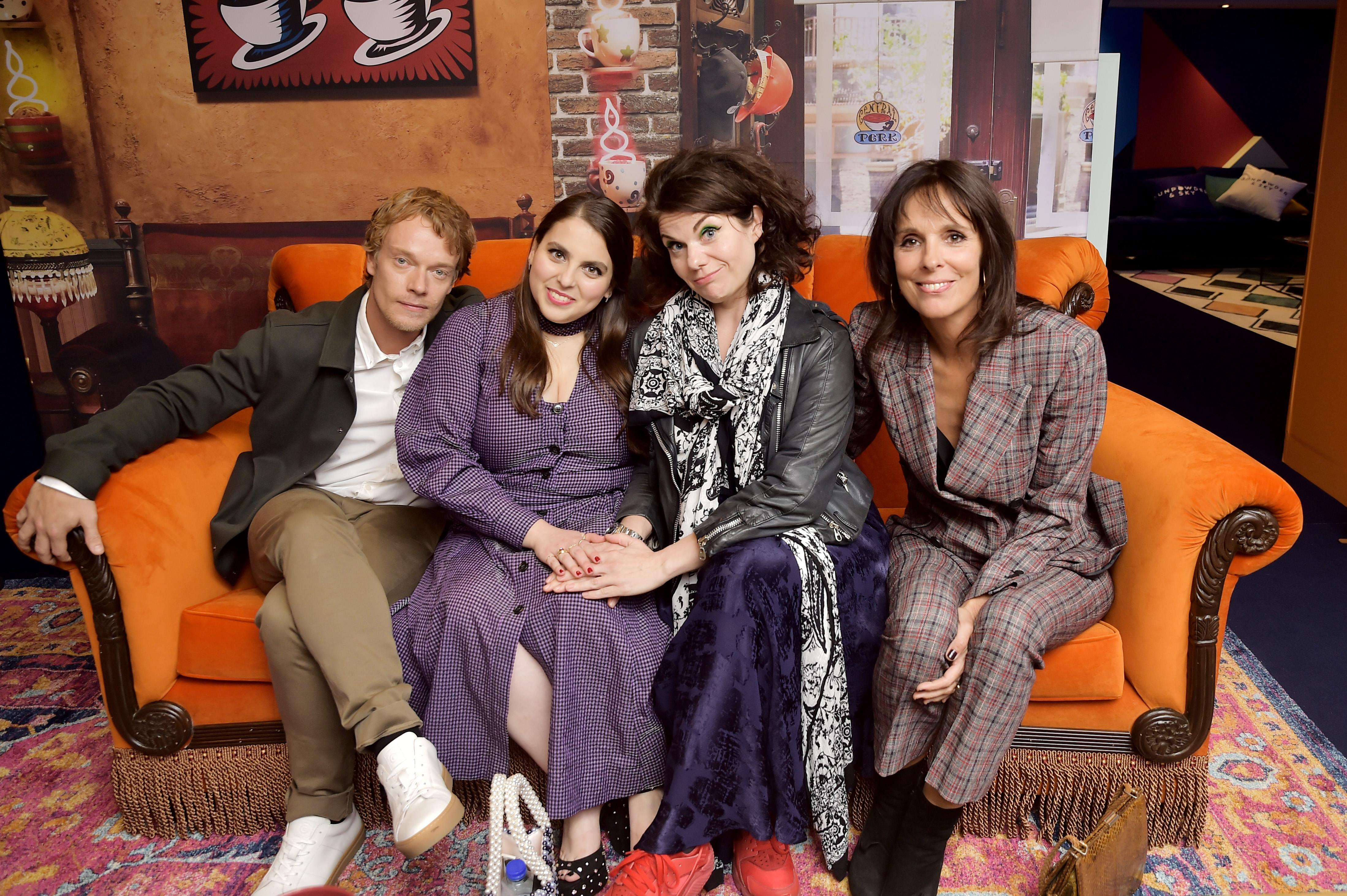 Alfie Allen, Beanie Feldstein, Caitlin Moran and Coky Giedroyc during Toronto International Film Festival 2019. (Photo by Stefanie Keenan/Getty Images for AT&T)
