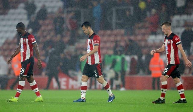 James Ward-Prowse was part of the Southampton side beaten 9-0 at home by Leicester in October 2019