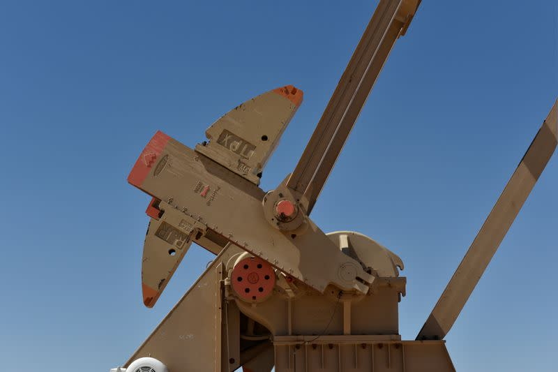 FILE PHOTO: A pump jack on a lease owned by Parsley Energy operates in the Permian Basin near Midland