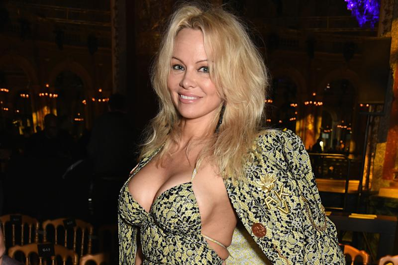 Speaking out: Pamela Anderson reveals 'love' for Julian Assange: Dave Benett