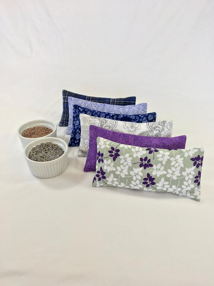 Weighted Eye Pillow - Lavender - Unscented - Relaxation - Aromatherapy - Spa - Yoga - Meditation - Gift - Removable Cover - Pick Your Fabric