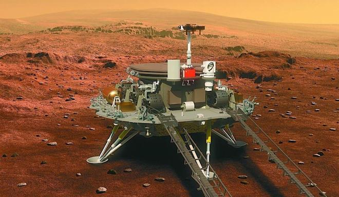 An illustration of the Tianwen-1 spacecraft, which is expected to land on the red planet in February 2021. Photo: Weibo
