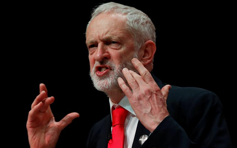 Corbyn looking angry