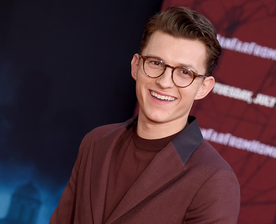 """HOLLYWOOD, CA - JUNE 26:  Tom Holland attends the premiere of Sony Pictures' """"Spider-Man Far From Home"""" at TCL Chinese Theatre on June 26, 2019 in Hollywood, California.  (Photo by Gregg DeGuire/WireImage)"""