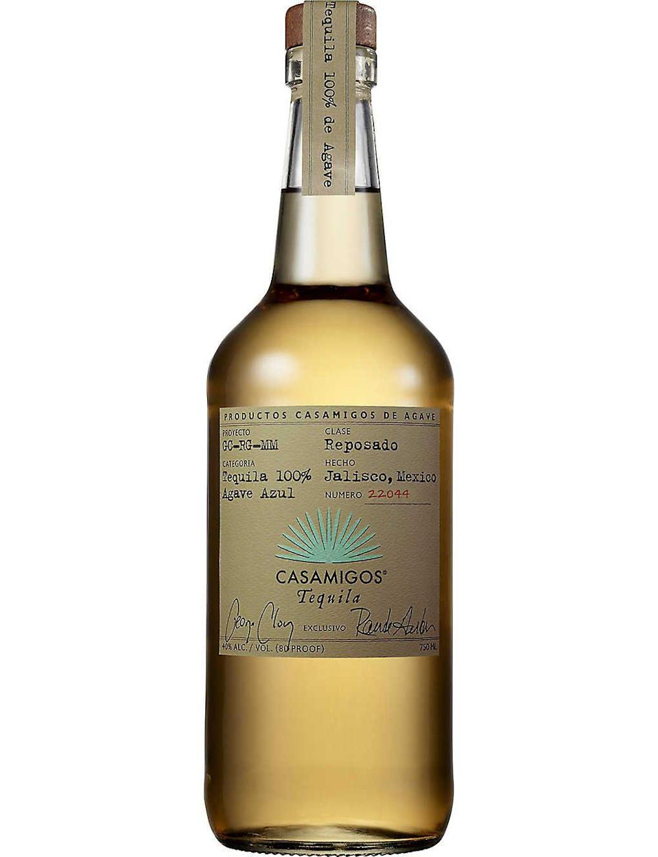 """<p><a class=""""link rapid-noclick-resp"""" href=""""https://www.amazon.co.uk/Casamigos-Reposado-Tequila-70-cl/dp/B00X8189EC/ref=pd_lpo_370_t_0/257-0942216-2119626?_encoding=UTF8&pd_rd_i=B00X8189EC&pd_rd_r=a7a0546f-6fe9-4421-bb10-b197fa2e5126&pd_rd_w=Pr2Xz&pd_rd_wg=JnJGi&pf_rd_p=3366510f-1771-44b5-99e2-20c1889506ac&pf_rd_r=SYZ9K82Q5RY86GNMGV9Y&psc=1&refRID=SYZ9K82Q5RY86GNMGV9Y&tag=hearstuk-yahoo-21&ascsubtag=%5Bartid%7C1923.g.35509977%5Bsrc%7Cyahoo-uk"""" rel=""""nofollow noopener"""" target=""""_blank"""" data-ylk=""""slk:SHOP"""">SHOP</a></p><p>There are a lot of tequilas and mezcals out there fronted by celebs, but George Clooney's is a particularly good example. That might be why Diageo bought it for $1 billion in 2017.</p><p>£50, amazon.co.uk</p>"""
