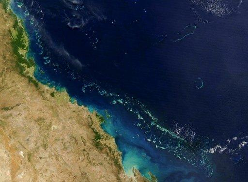 Stretching along more than 2,000 km (1,200 miles) of Australia's eastern coast is one of the world's formost natural wonders - The Great Barrier Reef (Light blue)