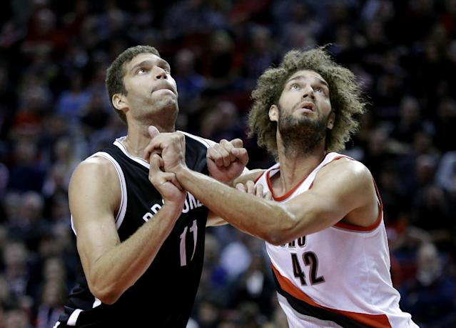 Brook Lopez welcomes twin brother Robin to New York with proper roast