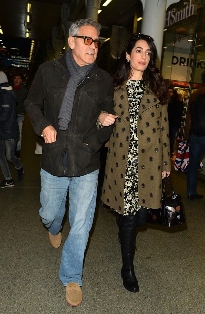 George and Amal Clooney in London in February (Rex features)