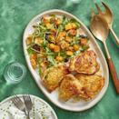 """<p>This golden chicken tastes even better with roasted squash by its side.</p><p><u><em><a href=""""https://www.womansday.com/food-recipes/food-drinks/recipes/a60791/roasted-chicken-and-squash-panzanella-recipe/"""" rel=""""nofollow noopener"""" target=""""_blank"""" data-ylk=""""slk:Get the recipe for Roasted Chicken and Squash."""" class=""""link rapid-noclick-resp"""">Get the recipe for Roasted Chicken and Squash.</a></em></u></p>"""