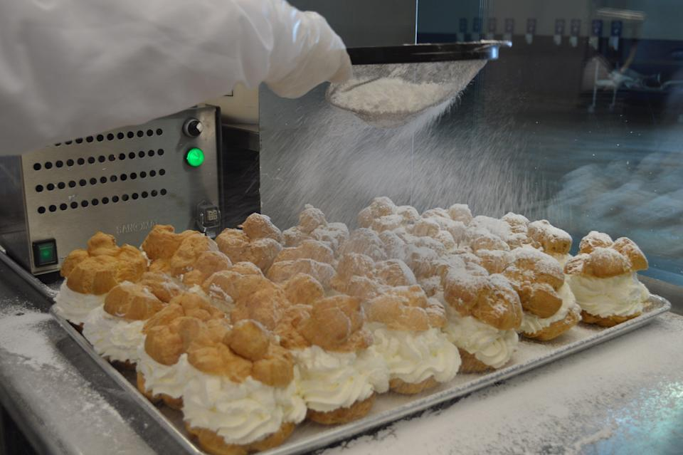 About 400,000 cream puffs are typically made and sold during the Wisconsin State Fair.
