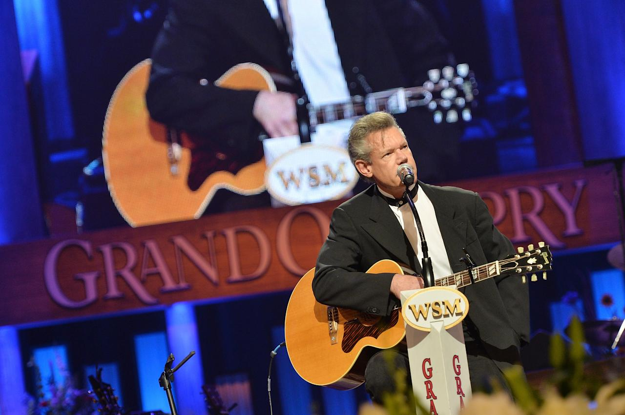 NASHVILLE, TN - MAY 02:  (EXCLUSIVE COVERAGE) Country singer Randy Travis performs at the funeral service for George Jones at The Grand Ole Opry on May 2, 2013 in Nashville, Tennessee. Jones passed away on April 26, 2013 at the age of 81.  (Photo by Rick Diamond/Getty Images for GJ Memorial)