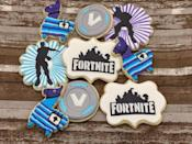 """<p><strong>CookieQueenNC</strong></p><p>etsy.com</p><p><strong>$44.00</strong></p><p><a href=""""https://go.redirectingat.com?id=74968X1596630&url=https%3A%2F%2Fwww.etsy.com%2Flisting%2F804041217%2Ffornite-custom-cookies-loot-llama-gaming&sref=https%3A%2F%2Fwww.housebeautiful.com%2Fshopping%2Fg23748374%2Ffortnite-gifts%2F"""" rel=""""nofollow noopener"""" target=""""_blank"""" data-ylk=""""slk:BUY NOW"""" class=""""link rapid-noclick-resp"""">BUY NOW</a></p><p>Treat them to some, well...treats—these hand-decorated Fortnite cookies (featuring Loot Llamas, some V-Bucks, and more) are sure to impress.</p>"""