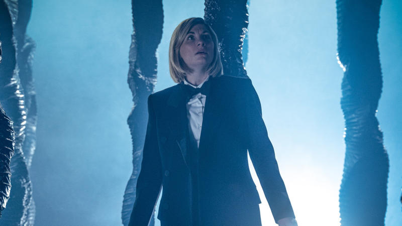 Jodie Whittaker in 'Doctor Who' series 12 opener 'Spyfall'. (Credit: BBC)