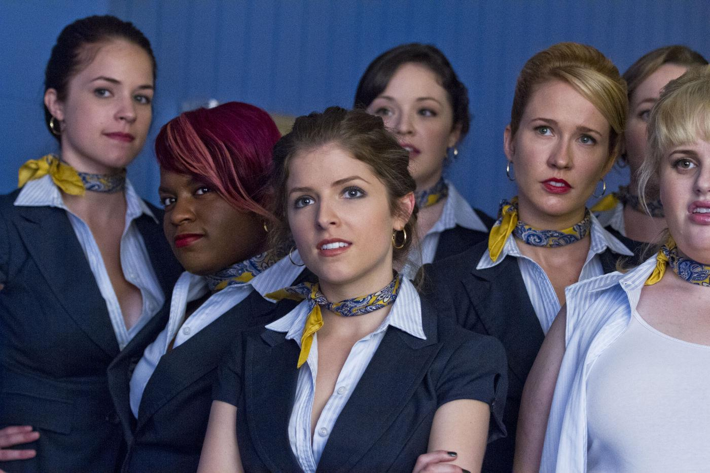 Anna Kendrick and the Barden Bellas in a still from <i>Pitch Perfect</i> (Universal)