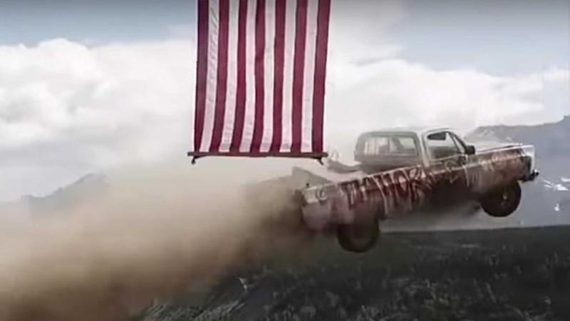 Independence Day Cars Off Cliff