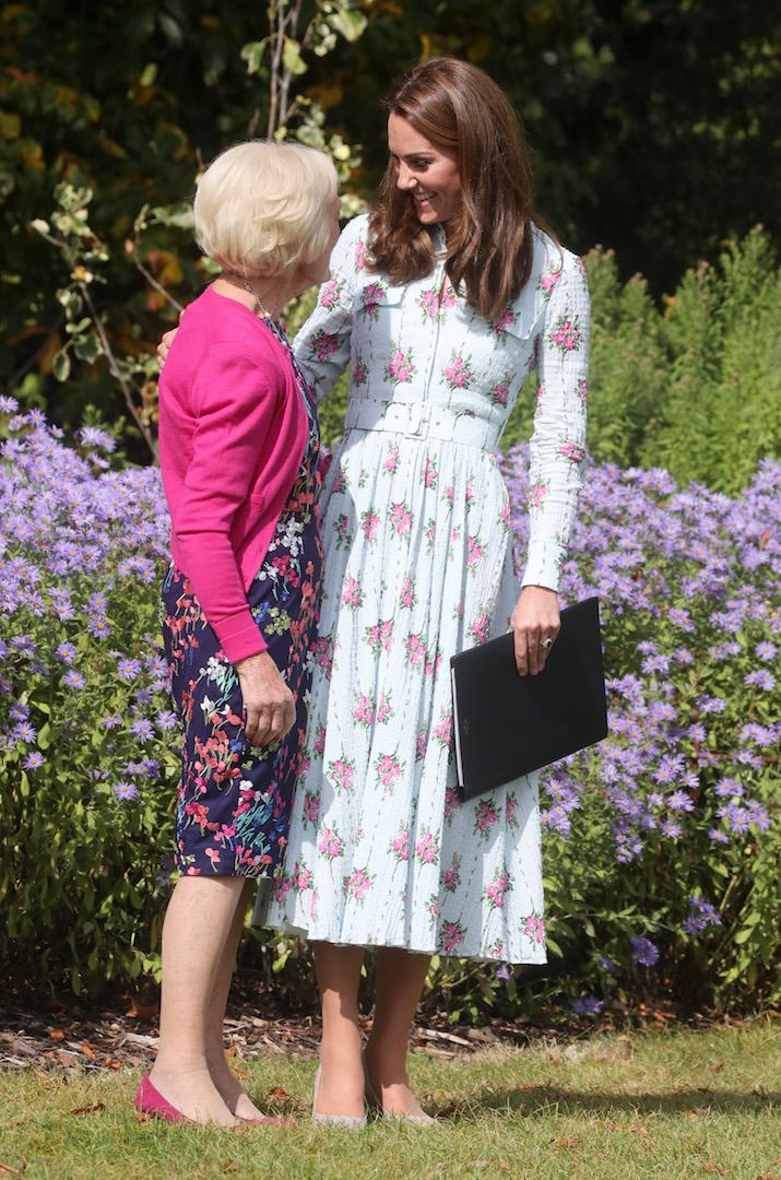The Duchess Of Cambridge and Mary Berry share a hug at the 'Back to Nature' festival [Photo: Getty]