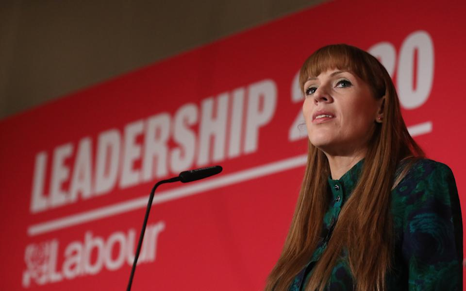 Angela Rayner during the deputy Labour leadership hustings at the ACC Liverpool. Picture date: Saturday January 18, 2020. Photo credit should read: Isabel Infantes / EMPICS Entertainment.