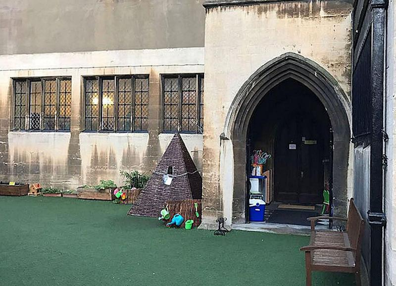 Interior shots reveal a turfed play area with toys. Photo: Getty