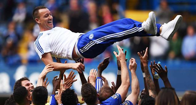 "Terry helped <a class=""link rapid-noclick-resp"" href=""/soccer/teams/chelsea/"" data-ylk=""slk:Chelsea"">Chelsea</a> reach new heights. (Reuters)"