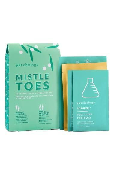 <p>Give their feet some love with the <span>Patchology Mistletoes Foot Exfoliation &amp; Hydration Set</span> ($25).</p>