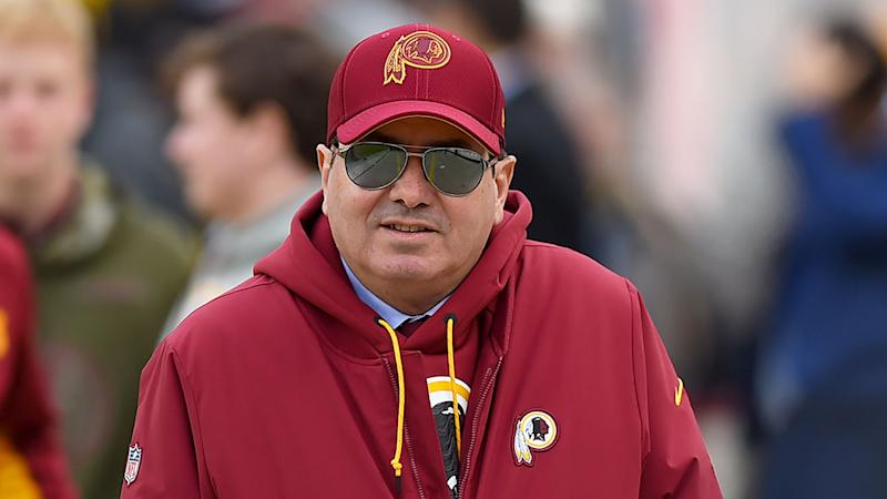 Seen here, Redskins owner Dan Snyder did not initially want to change the team's name.