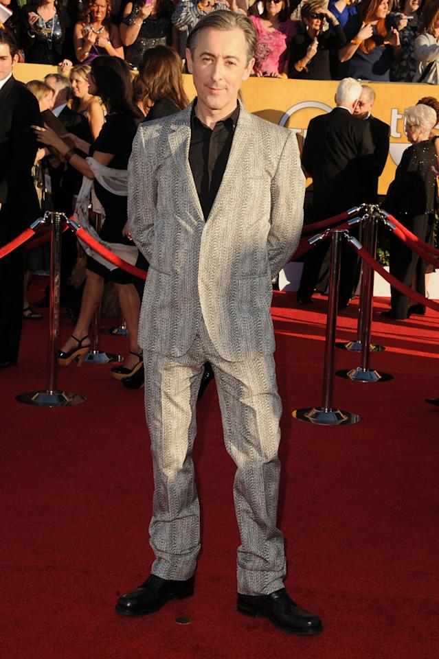 Alan Cumming arrives at the 18th Annual Screen Actors Guild Awards at The Shrine Auditorium in Los Angeles, California.