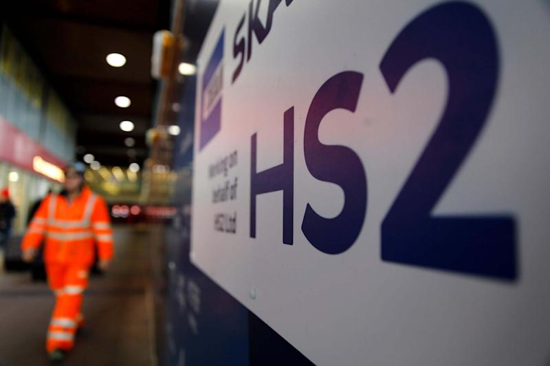 Boris Johnson has been urged to press ahead with HS2: AFP via Getty Images