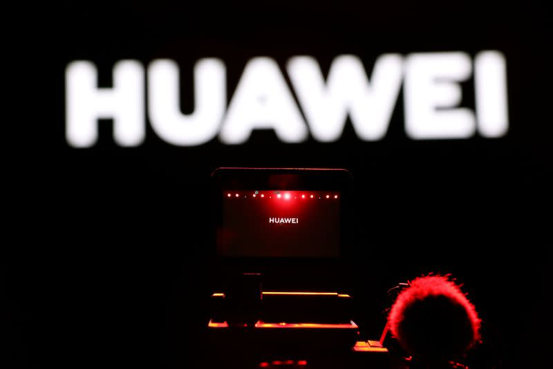 Cameraman records during Huawei stream product launch event in Barcelona