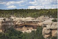 <p>This Colorado landmark served as a home for the Ancestral Pueblo people for more than 700 years, and a national park was established in 1906 to preserve the area. The park protects 5,000 archeological sites and 600 cliff dwelling. Cliff Palace is the most famous, shown here, offering valuable insight into what early American life looked like as early as the 14th century.</p>