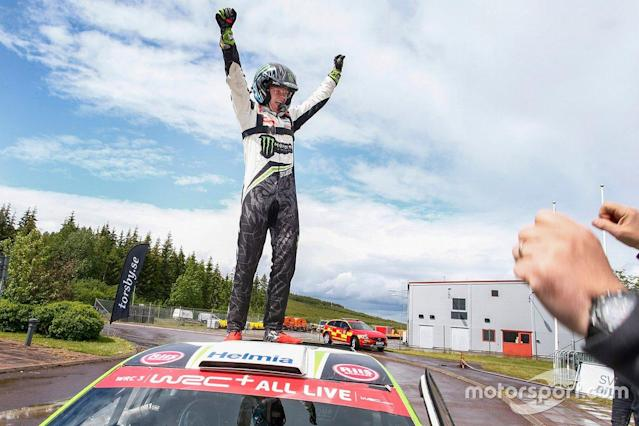 """Oliver Solberg, Volkswagen Polo GTI R5 <span class=""""copyright"""">Tony Welam</span>"""