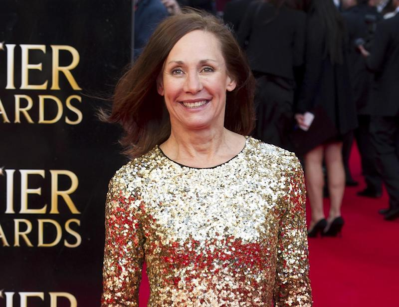 """FILE - This April 15, 2012 file photo shows actress Laurie Metcalf attending the Olivier Awards at the Royal Opera House in London. Metcalf will perform in the Sharr White play on Broadway, """"The Other Place,""""  previewing Dec. 11, 2012 and opening Jan. 10, 2013 in New York. (AP Photo/Jonathan Short, file)"""