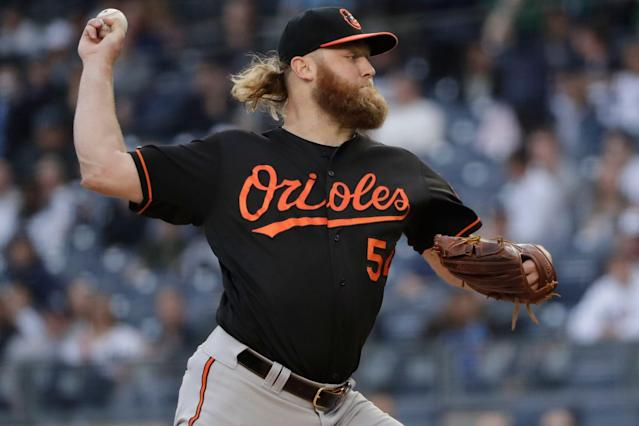 Would Orioles' pitcher Andrew Cashner really rather sit out than accept being traded to a contender? (AP Photo/Frank Franklin II)