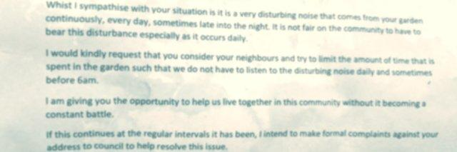 Mom Receives Rude Anonymous Letter From Neighbor About Her
