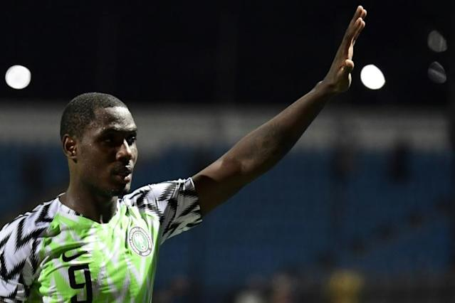 Odion Ighalo has not been able to train with his new Manchester United teammates due to fears over the coronavirus (AFP Photo/JAVIER SORIANO)