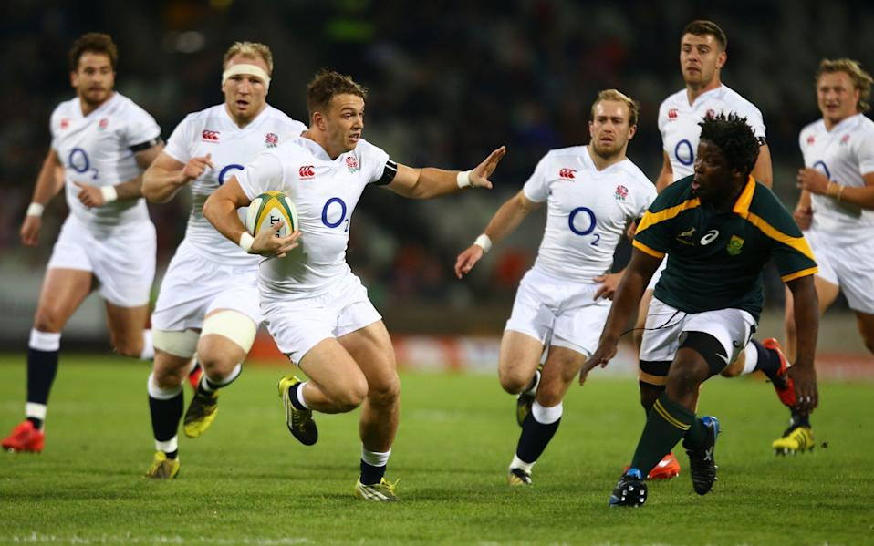 England Saxons in action against South Africa A in 2016 - GETTY IMAGES