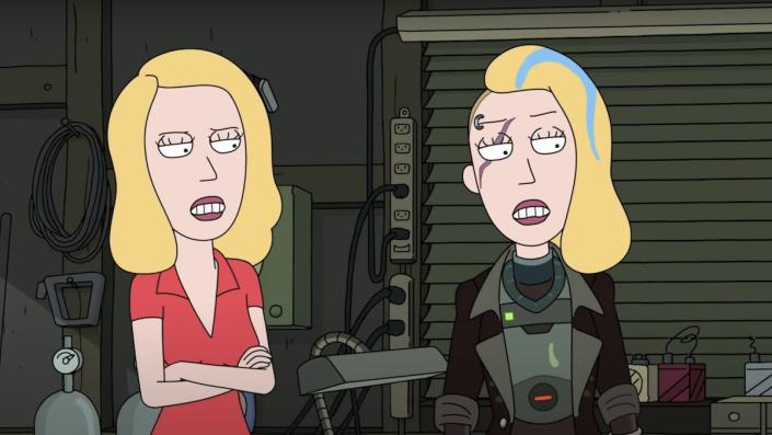 Home Beth and Space Beth from Rick and Morty