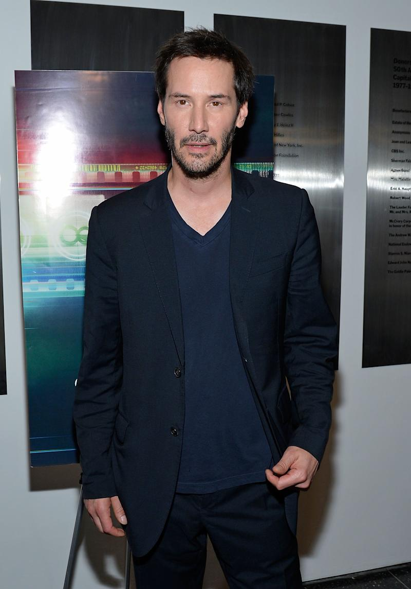 Keanu Reeves attends the 'Side By Side' New York Premiere at MOMA on August 9, 2012 in New York City.