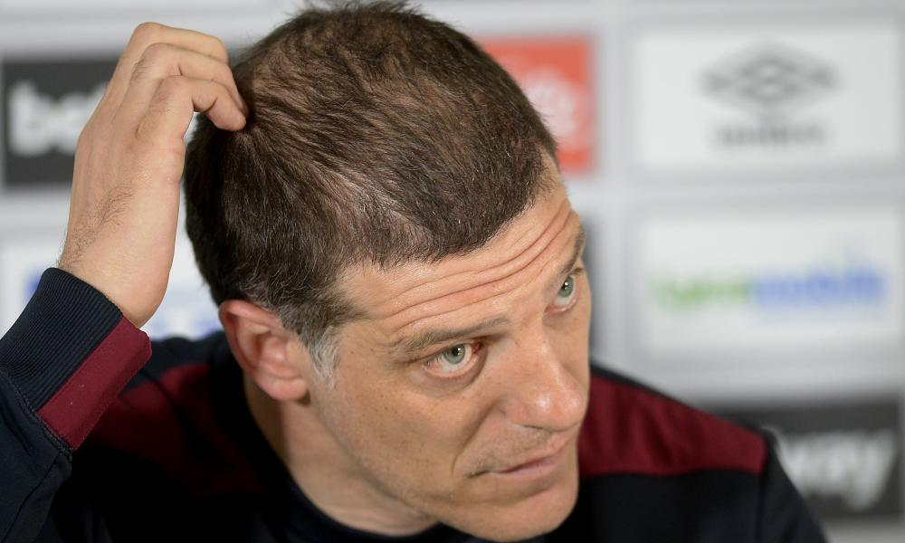 West Ham's Slaven Bilic is only interested in steering the team to Premier League safety, with Spurs on Friday 'the only thing' he is thinking about.