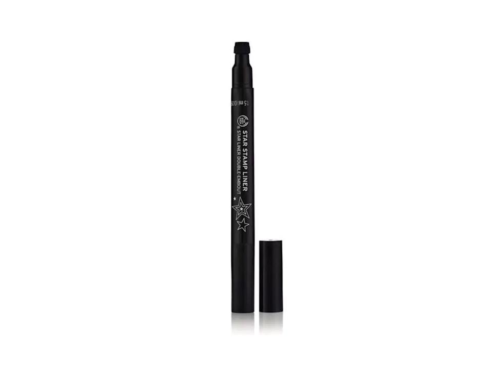 """<p>Why have normal eyeliner when you can have a star stamp version? Yes, The Body Shop's latest drop is perfect for those festival mornings where you've got about five minutes to get ready before running to your first fave act of the day. Just stamp and go. <br><a rel=""""nofollow noopener"""" href=""""https://www.thebodyshop.com/en-gb/make-up/star-stamp-liner/p/p002674"""" target=""""_blank"""" data-ylk=""""slk:Buy here."""" class=""""link rapid-noclick-resp"""">Buy here.</a> </p>"""